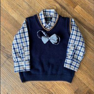 Other - Dressy shirt/vest/tie set
